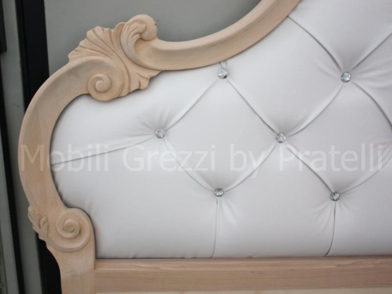 Letti Grezzi , Letto Barocco Grezzo Perla