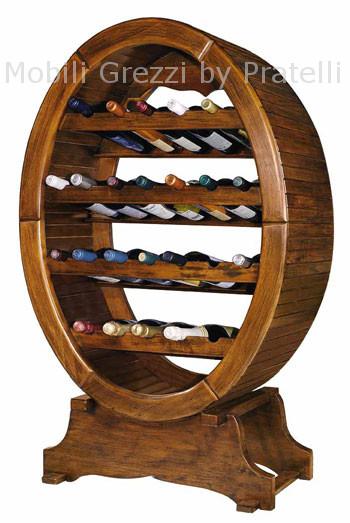 Portabottiglie botte pompa depressione - Portabottiglie di vino in legno ...