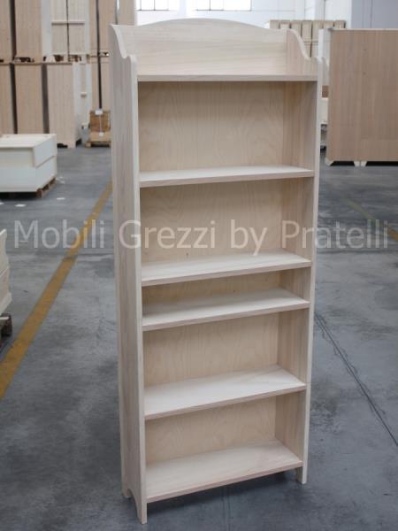 Etajere Libreria in Legno Grezzo