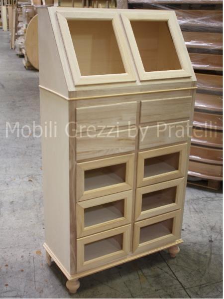 Dispense grezze dispensa grezza arte povera con cassetti for Dispensa legno