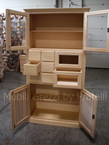 Dispense grezze mobile dispensa in legno grezzo for Dispensa legno