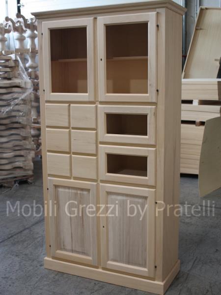 Dispense grezze mobile dispensa in legno grezzo - Mobili in legno grezzo da dipingere ...