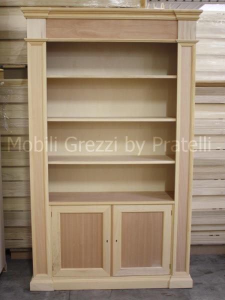 Beautiful libreria in legno grezzo with librerie con ante - Libreria con ante ikea ...