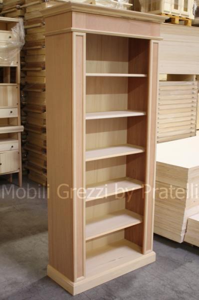 Best libreria legno grezzo photos for Librerie economiche on line
