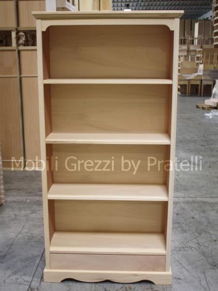 Librerie grezze libreria grezza liberty con cassetto for Cassapanche economiche