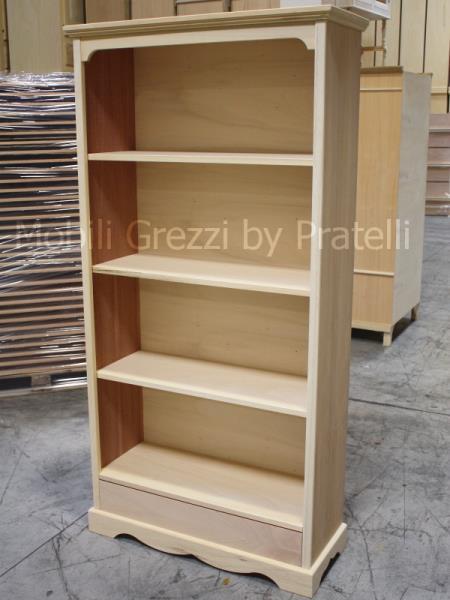 Librerie Grezze , Libreria Grezza Liberty con Cassetto
