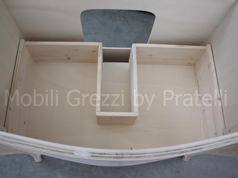 Mobili bagno grezzi mobile bagno barocco grezzo a 3 cassetti con intagli - Mobili bagno grezzi ...