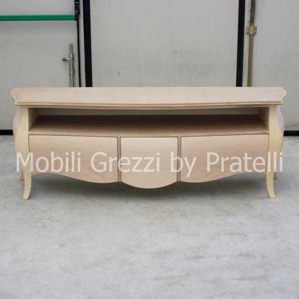 Mobili porta tv grezzi porta tv bombato grezzo 3 cassetti - Mobili porta tv meliconi ...