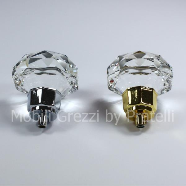 Pomelli sia di color argento che oro per uno stile unico