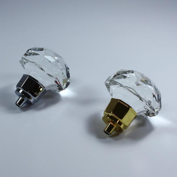 Pomelli cromati in argento e oro lucido