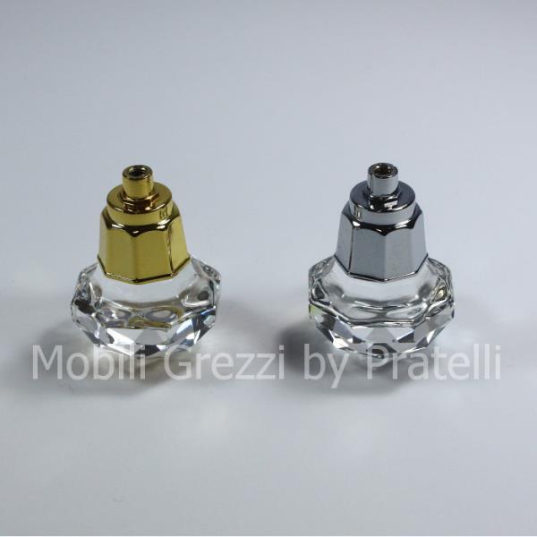 Pomelli cromati oro e argento lucido per uno stile unico