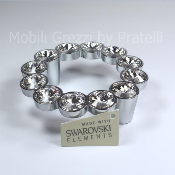Maniglia Swarovski Cromata Argento