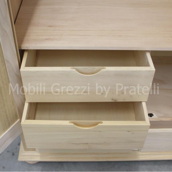 Armadi grezziarmadi grezzi 3 ante armadio grezzo 3 ante - Cassettiera interno armadio ...