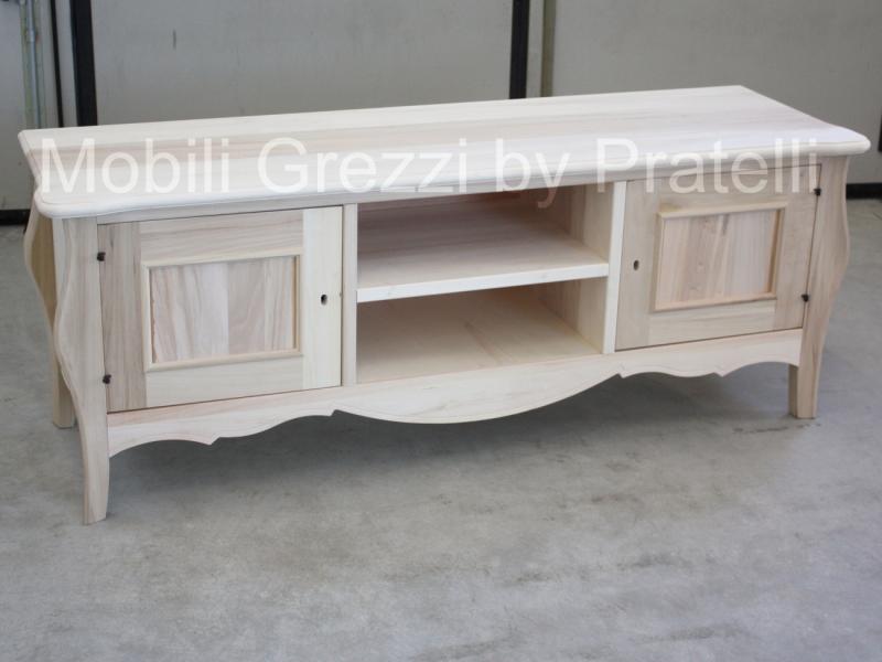 Mobile Porta TV Sagomato Grezzo