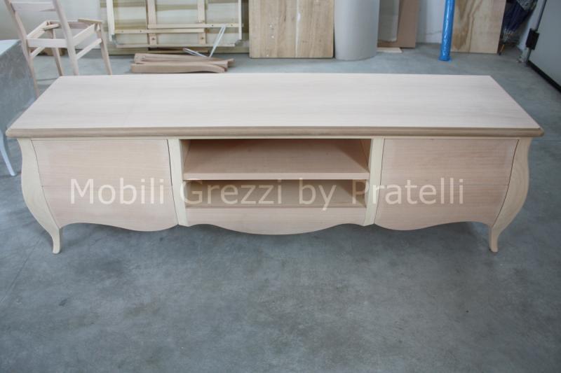 Mobili porta tv grezzi mobile porta tv bombato grezzo - Mobili bagno in legno grezzo ...