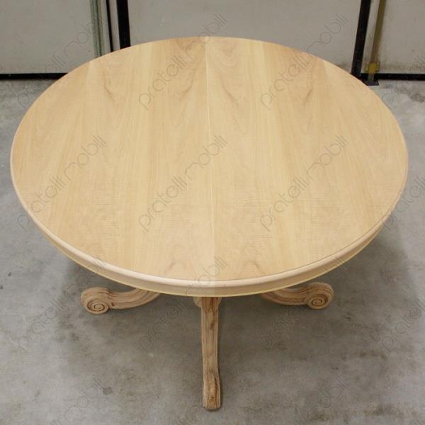 Tavoli grezzi tavolo rotondo grezzo allungabile gamba for Tavolo rotondo diametro 100 allungabile