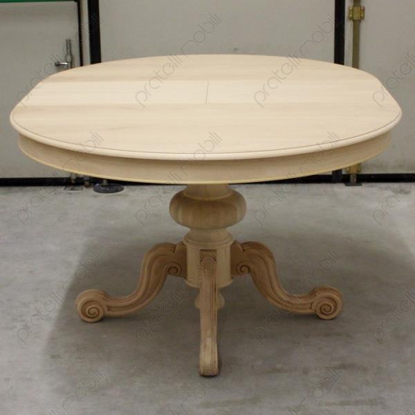 tavoli grezzi tavolo rotondo grezzo allungabile gamba
