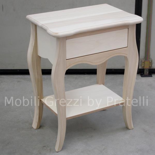 Comodini legno grezzo 28 images comodino grezzo in abete massello a 3 cassetti pratelli - Mobili in legno grezzo da dipingere ...