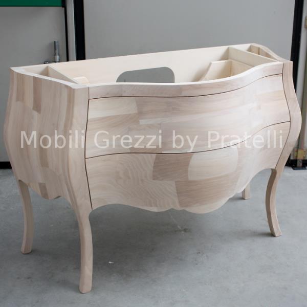 Mobile Bagno Barocco Grezzo