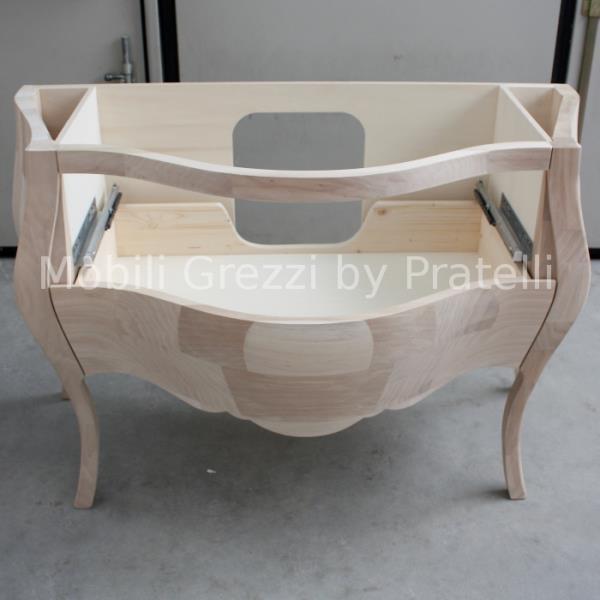 Mobili bagno grezzi mobile bagno bombato grezzo massello 2 c leon - Mobili bagno in legno grezzo ...