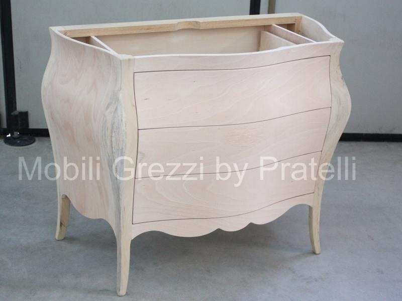 mobili bagno grezzi , bagno barocco bombato grezzo - Arredo Bagno Barocco Moderno