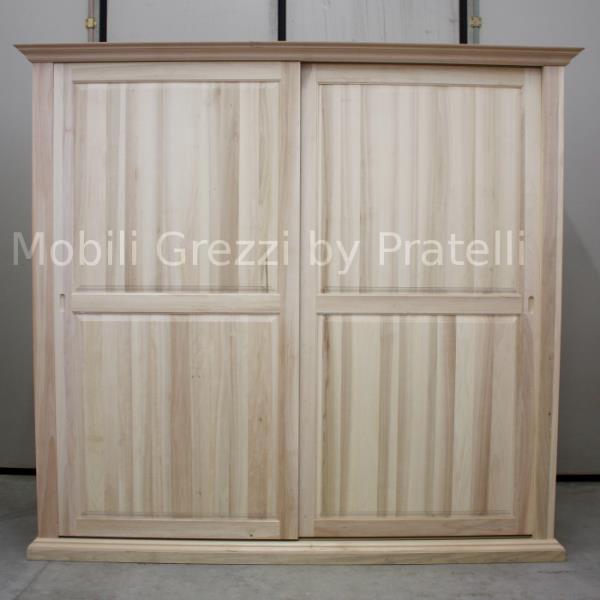 Armadi grezziarmadi grezzi ante scorrevoli armadio grezzo for Armadio legno grezzo