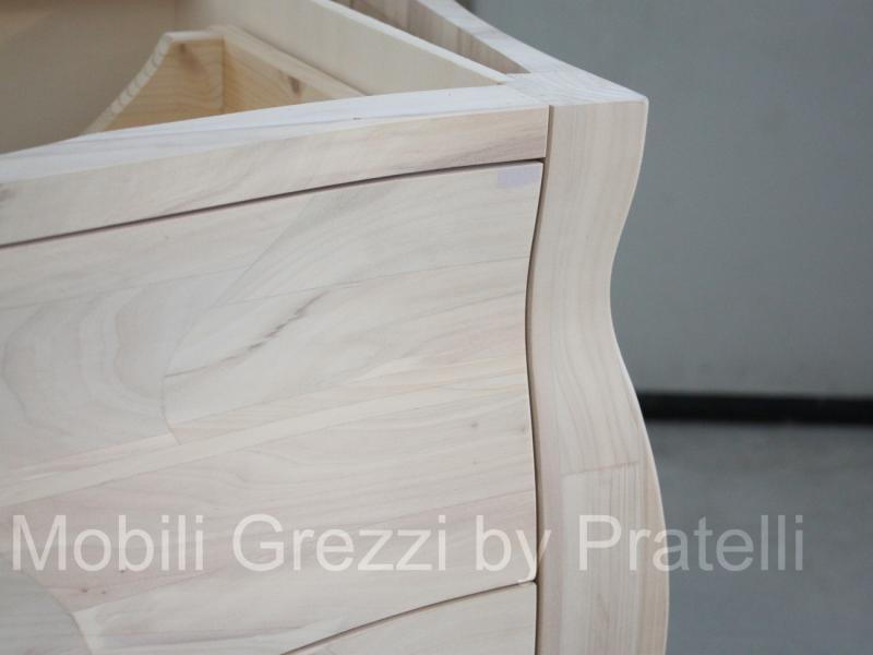 Mobili Bagno Grezzi , Mobile Bagno Bombato 2 Cassetti Legno ...