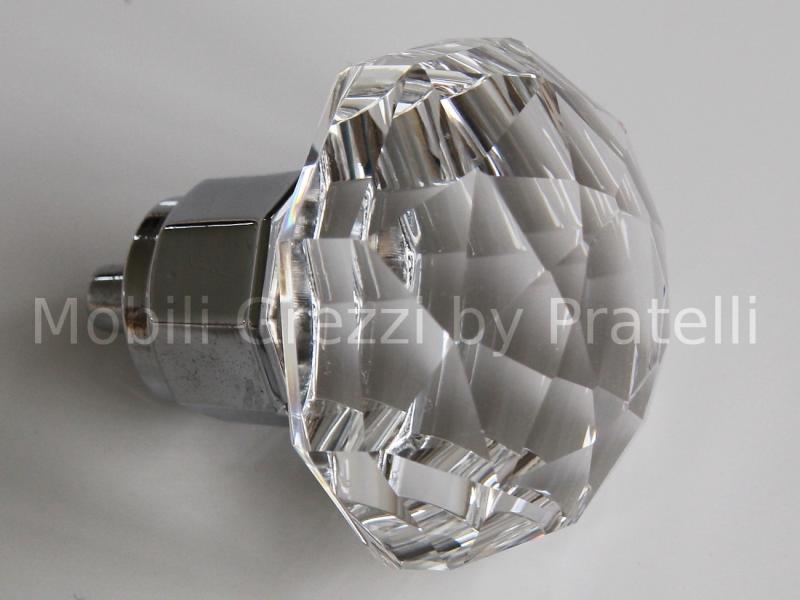 Maniglie e pomelli pomelli linea crystal pomello con - Mobili in cristallo ...