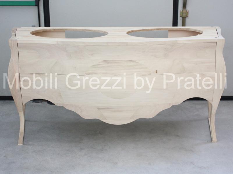 Mobili Bagno Grezzi , Mobile Bagno Barocco Grezzo 2 Lavabi