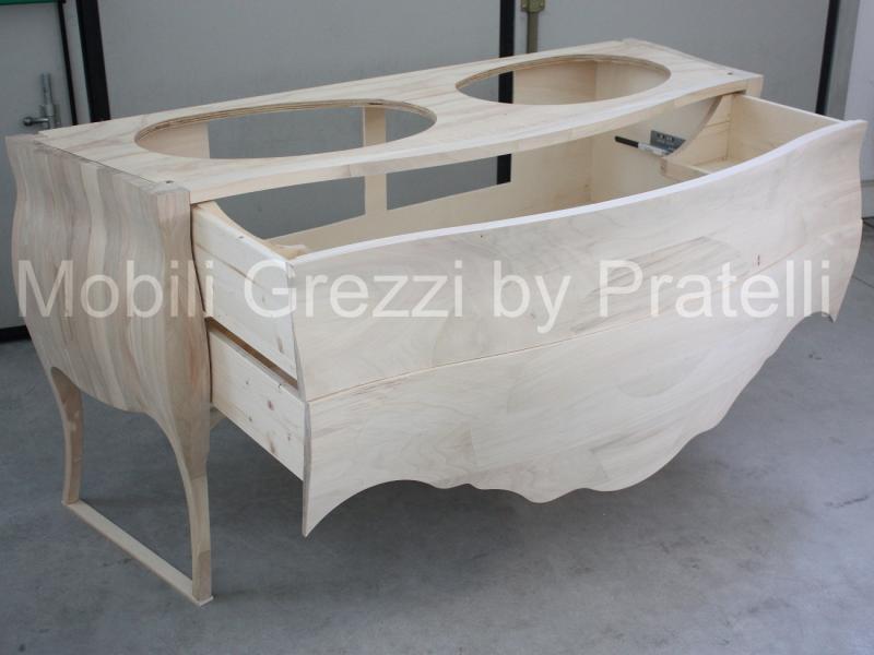Mobili bagno grezzi mobile bagno barocco grezzo 2 lavabi for Mobili provenzali grezzi