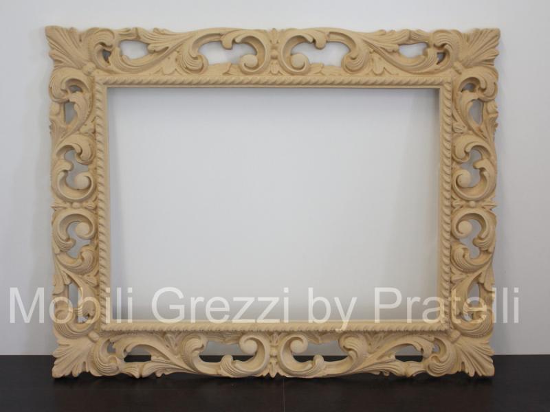 Specchiere e cornici grezze cornice barocca grezza for Cassapanche economiche