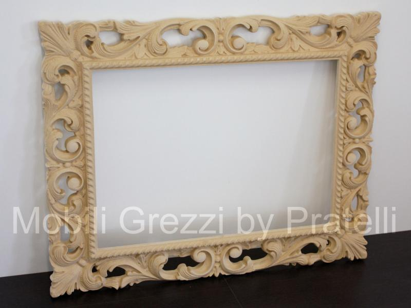 Specchiere e cornici grezze cornice barocca grezza - Specchio cornice nera barocca ...