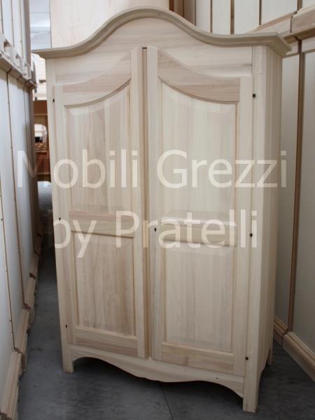 Armadi grezzi armadio grezzo 2 ante torino for Armadio legno grezzo