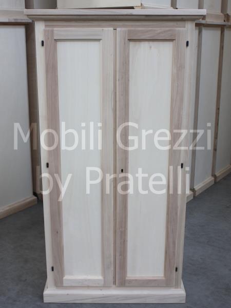 Armadi grezziarmadi grezzi 2 ante armadietto portascope for Cassapanche piccole legno