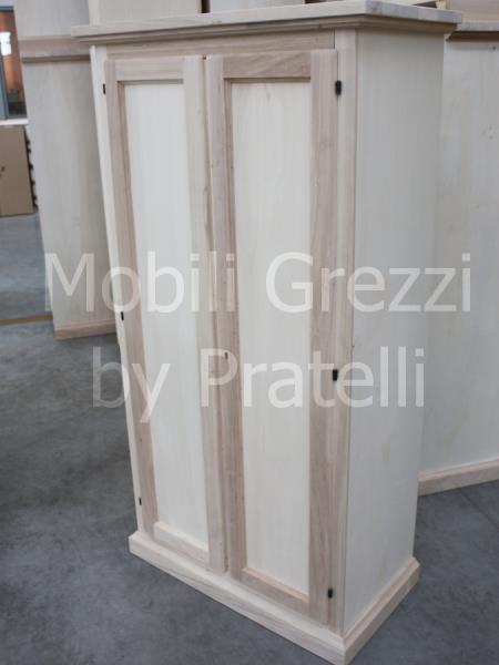 Armadi grezziarmadi grezzi 2 ante armadietto portascope for Armadio legno grezzo