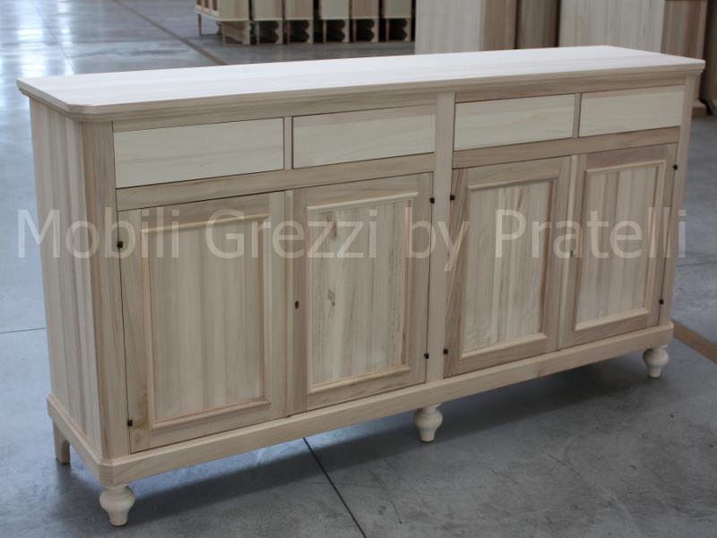 credenza grezza : Credenza Grezza A 4 Ante Scantonate Pratelli Mobili Pictures to pin on ...