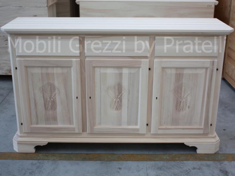 Credenze grezze credenze grezze oltre 160 cm credenza for Antine in legno grezzo per cucina