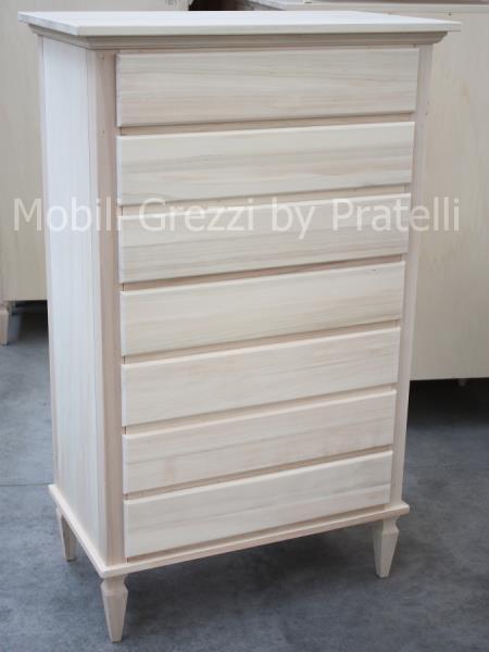 Cassettiera Spillo Grezza