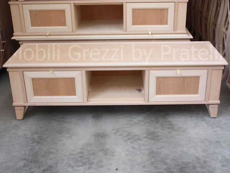 Mobili porta tv grezzi base porta tv grezza moderna con for Costruire porta tv