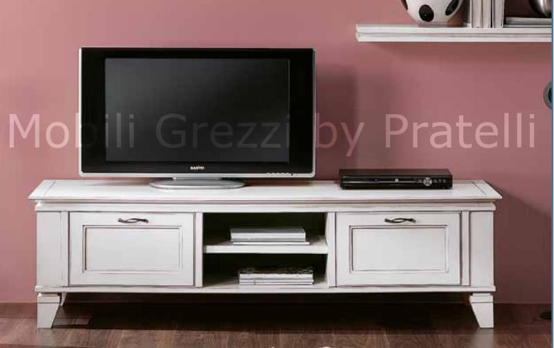 Mobili porta tv grezzi base porta tv grezza moderna con - Porta tv bianco ...